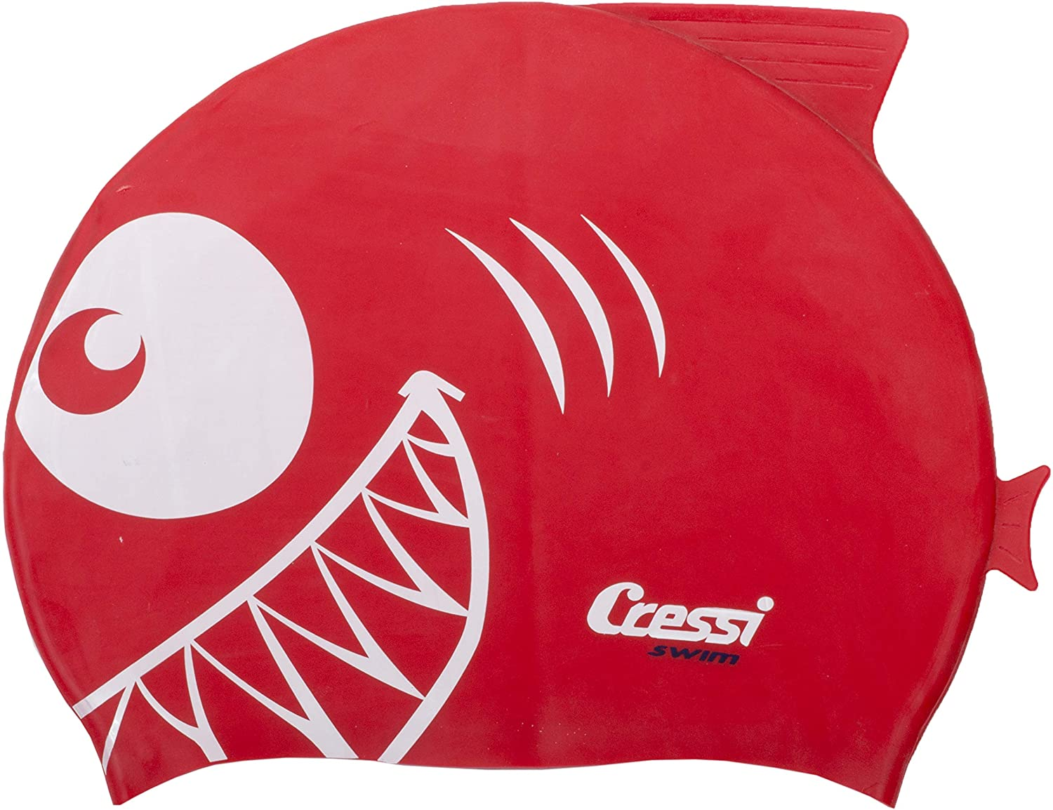 Cressi Shark, Silicone Swimming Cap For Kids